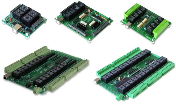 EasyDAQ USB Controlled Relay and DIO Cards